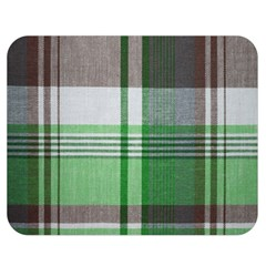 Plaid Fabric Texture Brown And Green Double Sided Flano Blanket (medium)