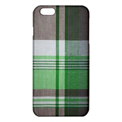 Plaid Fabric Texture Brown And Green Iphone 6 Plus/6s Plus Tpu Case by BangZart