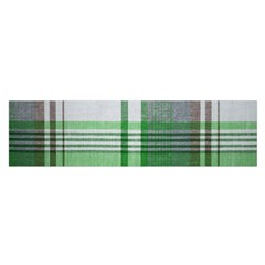 Plaid Fabric Texture Brown And Green Satin Scarf (oblong)