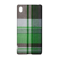 Plaid Fabric Texture Brown And Green Sony Xperia Z3+ by BangZart