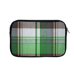 Plaid Fabric Texture Brown And Green Apple Macbook Pro 13  Zipper Case by BangZart
