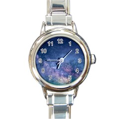 Galaxy Nebula Astro Stars Space Round Italian Charm Watch by paulaoliveiradesign