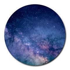 Galaxy Nebula Astro Stars Space Round Mousepads by paulaoliveiradesign