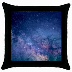 Galaxy Nebula Astro Stars Space Throw Pillow Case (black) by paulaoliveiradesign