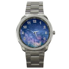 Galaxy Nebula Astro Stars Space Sport Metal Watch by paulaoliveiradesign