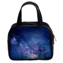 Galaxy Nebula Astro Stars Space Classic Handbags (2 Sides) by paulaoliveiradesign