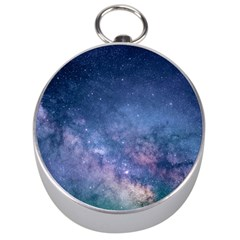 Galaxy Nebula Astro Stars Space Silver Compasses by paulaoliveiradesign