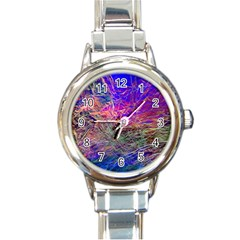 Poetic Cosmos Of The Breath Round Italian Charm Watch