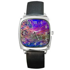 Poetic Cosmos Of The Breath Square Metal Watch