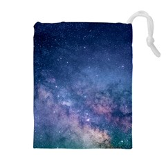 Galaxy Nebula Astro Stars Space Drawstring Pouches (extra Large) by paulaoliveiradesign