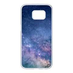 Galaxy Nebula Astro Stars Space Samsung Galaxy S7 Edge White Seamless Case by paulaoliveiradesign