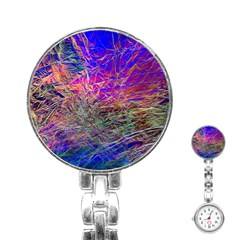 Poetic Cosmos Of The Breath Stainless Steel Nurses Watch