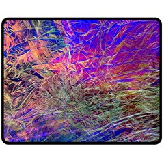 Poetic Cosmos Of The Breath Double Sided Fleece Blanket (medium)  by BangZart