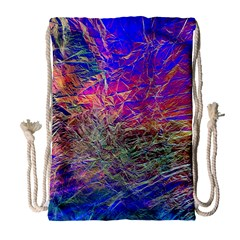 Poetic Cosmos Of The Breath Drawstring Bag (large) by BangZart