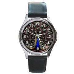 Peacock Round Metal Watch