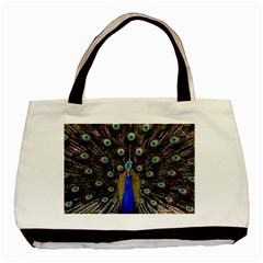 Peacock Basic Tote Bag by BangZart