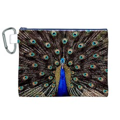 Peacock Canvas Cosmetic Bag (xl) by BangZart