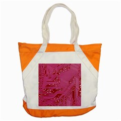 Pink Circuit Pattern Accent Tote Bag