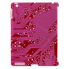 Pink Circuit Pattern Apple Ipad 3/4 Hardshell Case (compatible With Smart Cover) by BangZart