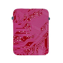 Pink Circuit Pattern Apple Ipad 2/3/4 Protective Soft Cases by BangZart