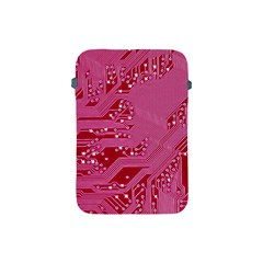 Pink Circuit Pattern Apple Ipad Mini Protective Soft Cases by BangZart