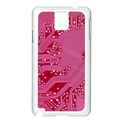 Pink Circuit Pattern Samsung Galaxy Note 3 N9005 Case (white) by BangZart