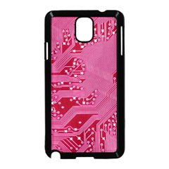 Pink Circuit Pattern Samsung Galaxy Note 3 Neo Hardshell Case (black) by BangZart