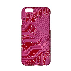 Pink Circuit Pattern Apple Iphone 6/6s Hardshell Case by BangZart
