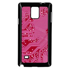 Pink Circuit Pattern Samsung Galaxy Note 4 Case (black) by BangZart