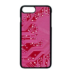 Pink Circuit Pattern Apple Iphone 7 Plus Seamless Case (black)