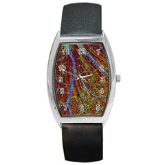 Neurobiology Barrel Style Metal Watch by BangZart