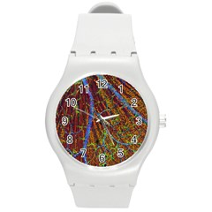 Neurobiology Round Plastic Sport Watch (m) by BangZart