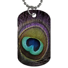 Peacock Feather Dog Tag (two Sides)