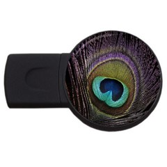 Peacock Feather Usb Flash Drive Round (4 Gb) by BangZart