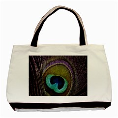 Peacock Feather Basic Tote Bag