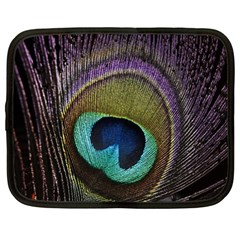 Peacock Feather Netbook Case (large) by BangZart
