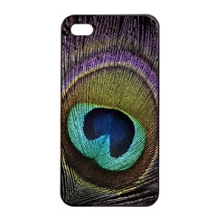Peacock Feather Apple Iphone 4/4s Seamless Case (black) by BangZart