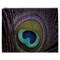 Peacock Feather Cosmetic Bag (xxxl)  by BangZart