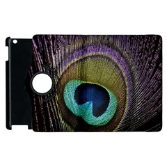 Peacock Feather Apple Ipad 3/4 Flip 360 Case by BangZart
