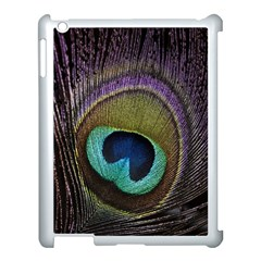 Peacock Feather Apple Ipad 3/4 Case (white) by BangZart