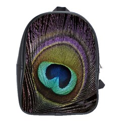 Peacock Feather School Bags (xl)  by BangZart