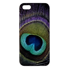 Peacock Feather Apple Iphone 5 Premium Hardshell Case