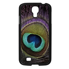Peacock Feather Samsung Galaxy S4 I9500/ I9505 Case (black) by BangZart