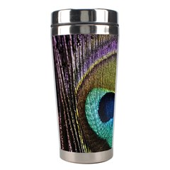 Peacock Feather Stainless Steel Travel Tumblers by BangZart
