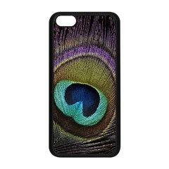 Peacock Feather Apple Iphone 5c Seamless Case (black) by BangZart