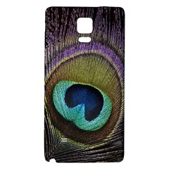Peacock Feather Galaxy Note 4 Back Case by BangZart
