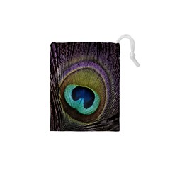 Peacock Feather Drawstring Pouches (xs)