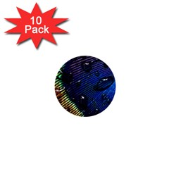 Peacock Feather Retina Mac 1  Mini Buttons (10 Pack)