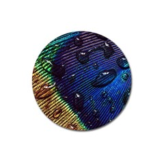 Peacock Feather Retina Mac Magnet 3  (round) by BangZart