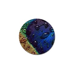 Peacock Feather Retina Mac Golf Ball Marker (10 Pack) by BangZart
